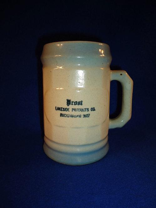 Blue and White Stoneware Mug, Prost, Chicago, ILL, Western Stoneware, Monmouth