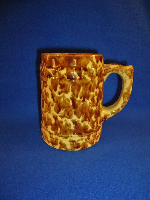 Yellow Ware Mug with Flow Rockingham Glaze #4695