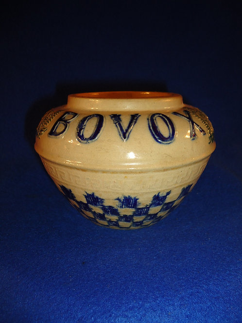 Bovox Beef Concentrate Stoneware Jar by Whites Pottery of Utica, New York