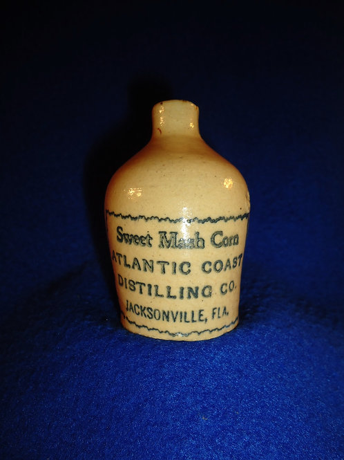 Atlantic Coast Distilling, Jacksonville, Florida Stoneware Whiskey Mini Jug