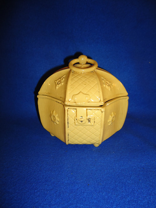 Late 19th Century Yellow Ware Sewing Box #5419