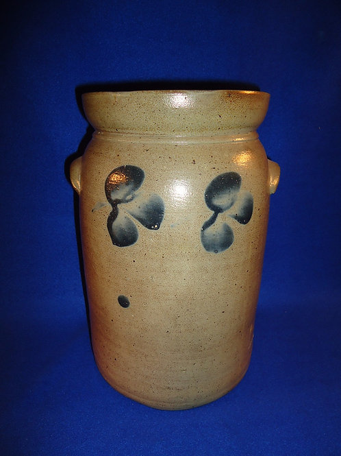 Circa 1870 1 1/2 Gallon Stoneware Tabletop Churn from Baltimore, Maryland