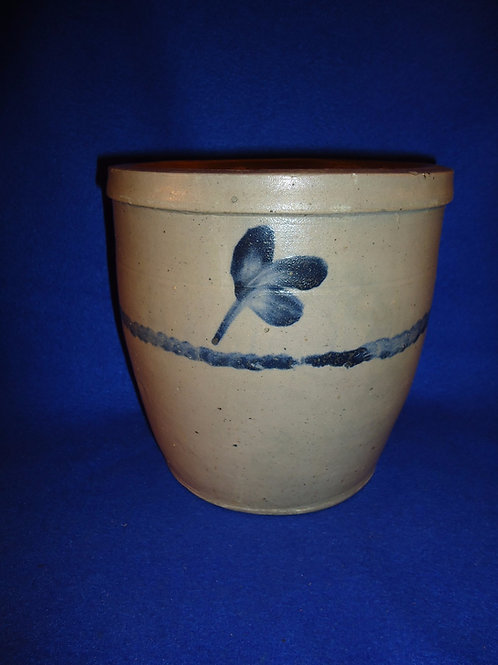 Baltimore, Maryland 1 Gallon Cream Pot with Stripe and Four Clovers