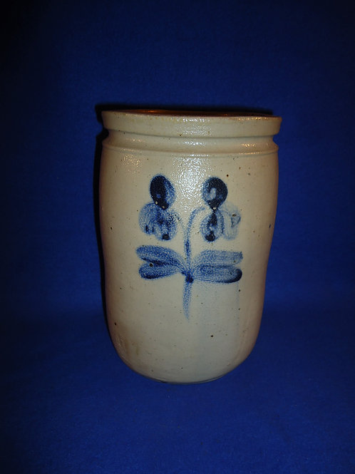 Circa 1870 Stoneware Jar with Double Clovers, Baltimore, Maryland #5836