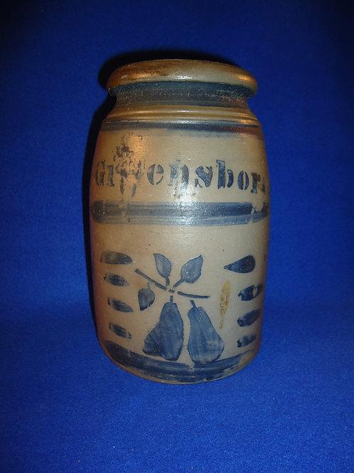 "Rare 8"" Wax Sealer with Pears from Hamilton and Jones of Greensboro, PA"