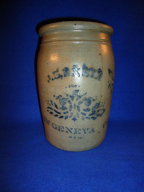 J. E. Eneix, New Geneva, Pennsylvania Stoneware 1 Gallon Jar
