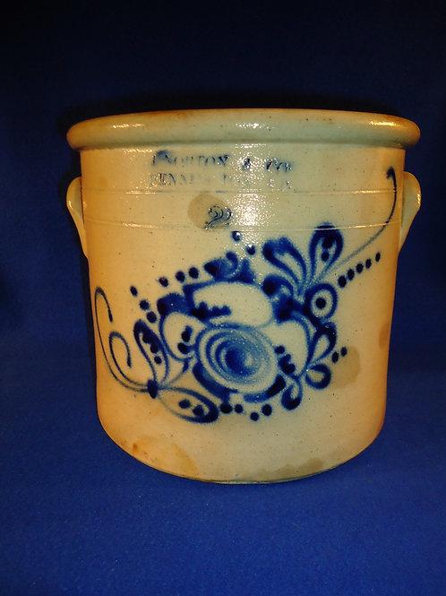 J. Norton, Bennington, Vermont 2 Gallon Stoneware Crock with Gorgeous Floral