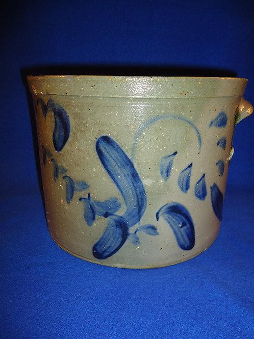 Decorated Stoneware Butter or Cake Crock att. Hickerson, Strasburg, Virginia