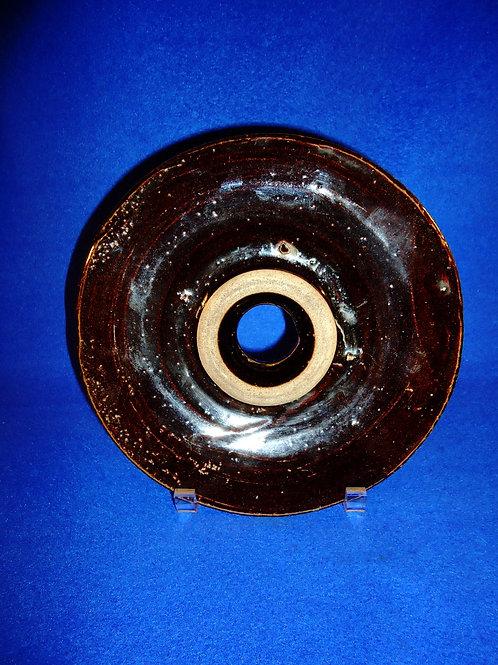 "9"" Stoneware Churn Lid"