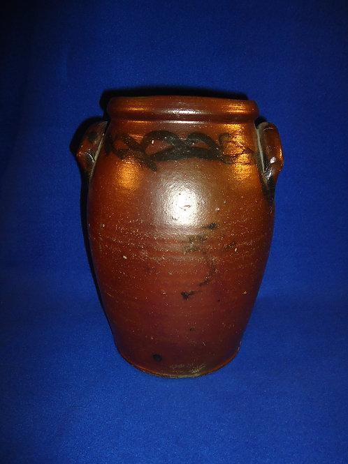 1 Gallon Stoneware Jar with Chain Decoration, att. Sweeney of Henrico County, VA