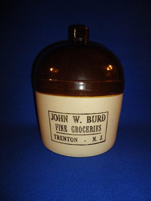 John Burd, Grocer, Trenton, New Jersey Stoneware Jug #5407