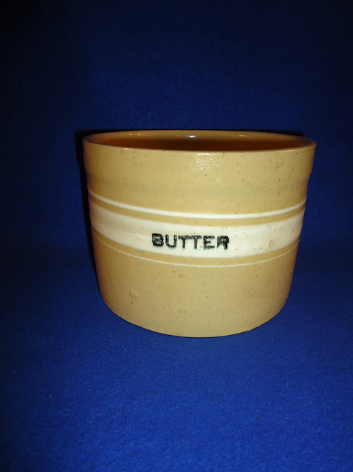 Yellow Ware Butter Crock, Dandy Line, #4727