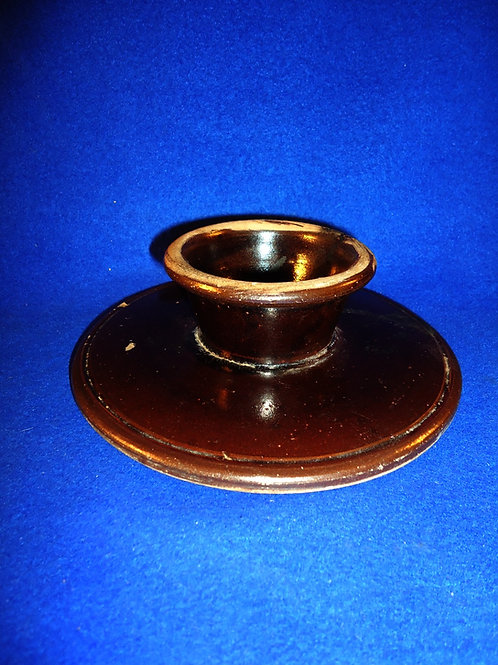 Circa 1870 Stoneware Churn Lid with Dasher Guide- 7 1/4""