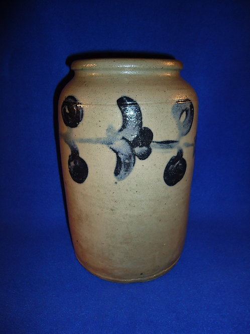 Circa 1840 Stoneware Jar with Garland, att. Henry Remmey of Philadelphia