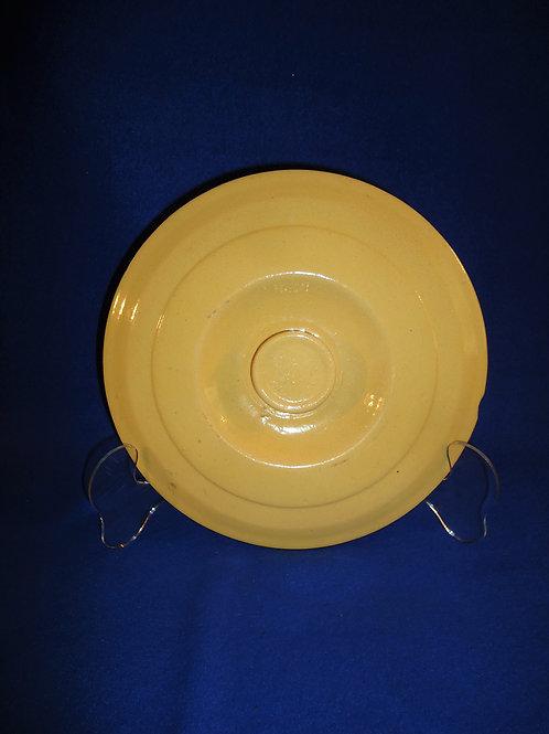 Yellow Ware Lid for the Dandy Line Sugar Crock, Brush McCoy, #4823