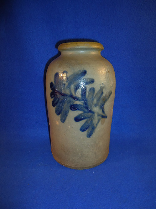 "Circa 1830 Decorated Stoneware 9"" Jar, att. Henry Remmey, Philadelphia, #4930"