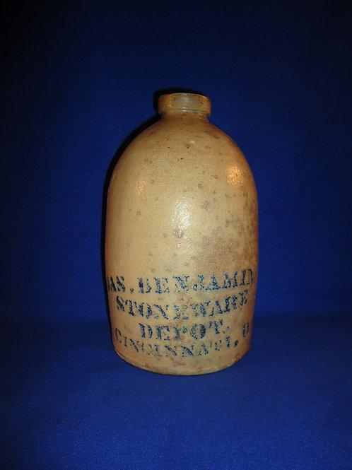 James Benjamin, Cincinnati, Ohio 1 Gallon Stoneware Jug