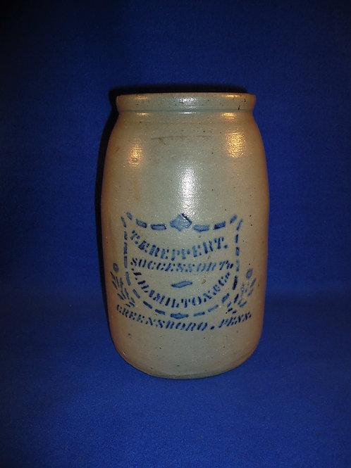 T. F. Reppert, Greensboro, Pennsylvania Stoneware Wax Sealer with Shield #5294