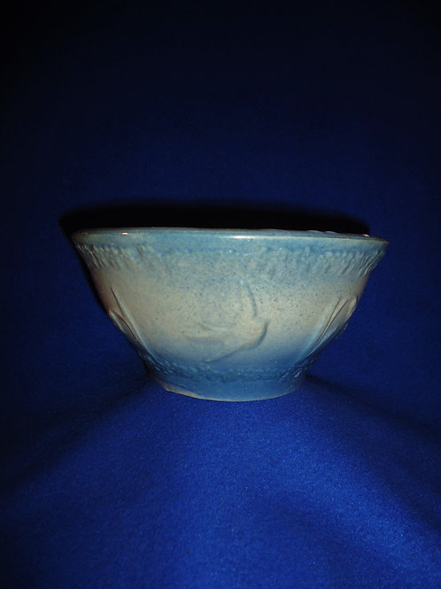 Blue and White Stoneware Bowl, Flying Birds Pattern #5253