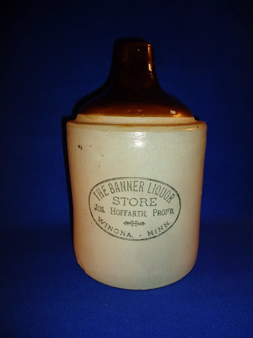 Hoffarth, Winona, Minnesota Stoneware Merchant Jug by Red Wing