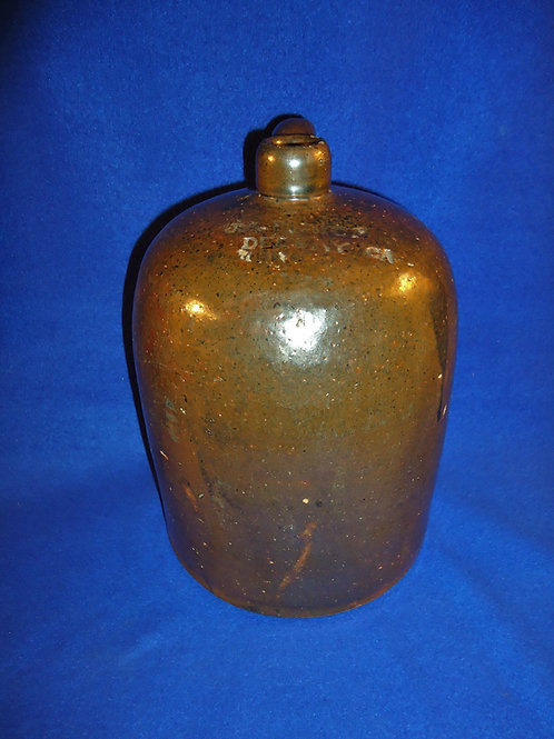 J. A. Bishop, Del Ray, Georgia Stoneware 1 Gallon Jug