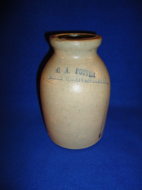 C. A. Potter, North Grosvenor Dale, Connecticut Stoneware Oyster Jar