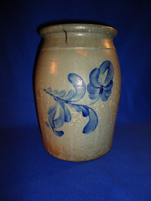 2 Gallon Preserve Jar with Floral attributed to Beaver, Pennsylvania