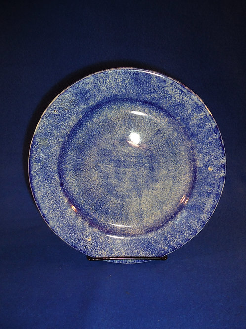 "Blue and White Spatterware Staffordshire 8 3/8"" Plate"