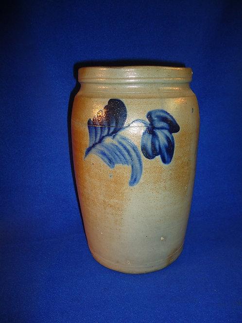 1 Gallon Stoneware Jar with 3 Tulips, att. Richard Remmey of Philadelphia