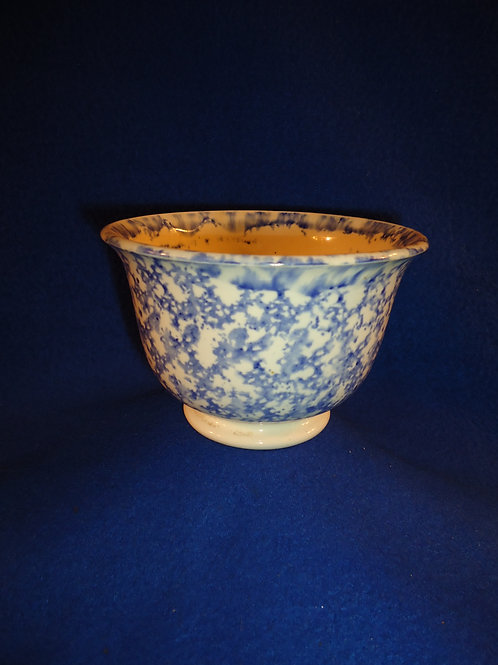 Early 19th Century Staffordshire Blue and White Spongeware Small Footed Bowl