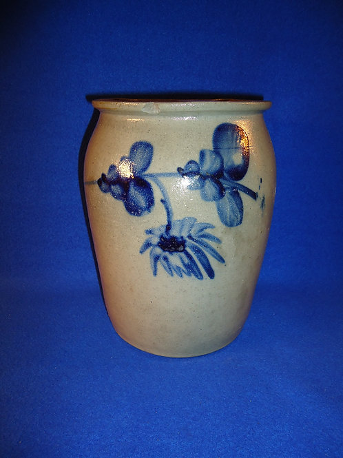 Gorgeous 1 Gallon Stoneware Jar, att.Virginia