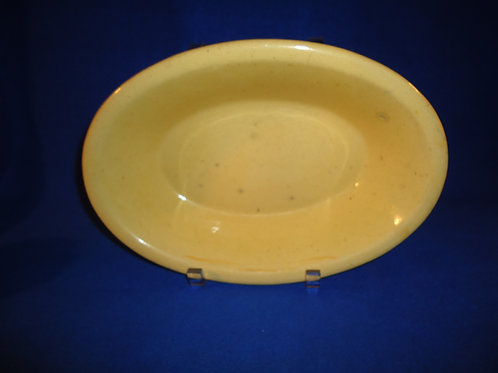 "Circa 1880-1900 Yellow Ware 11"" Oval Serving Dish"