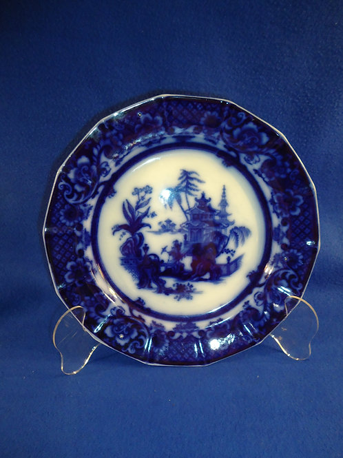"""John Meir Flow Blue 11"""" Charger in the Chen-Si Pattern #5392"""