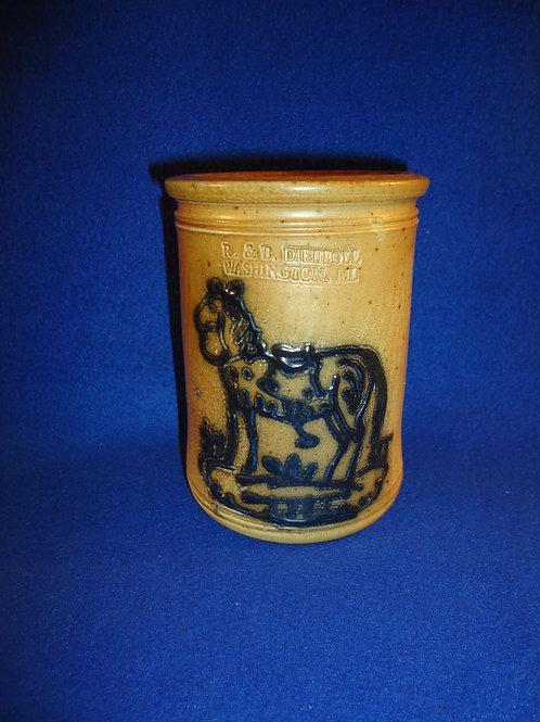 R. & B. Diebboll, Washington, Michigan Stoneware Jar with Horse #4711