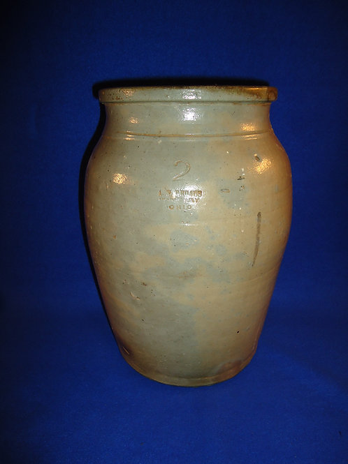 A. P. Rhodes, Middlebury, Ohio Stoneware 2 Gallon Jar