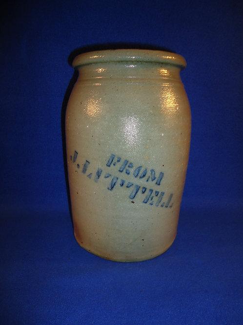 Johnson Littell, Greensboro, Pennsylvania Stoneware 1 Gallon Jar; #4983