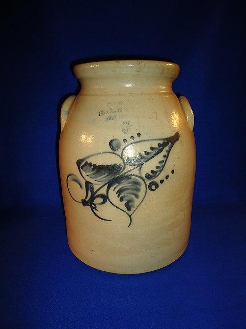 New York Stoneware Company Stoneware 3 Gallon Preserve Jar with Floral