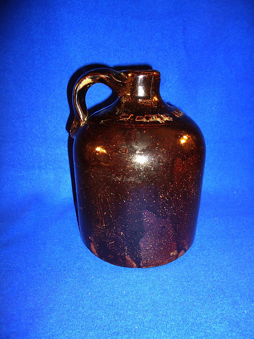 Weeks Brothers, Akron, Ohio Stoneware 1/2 Gallon Jug