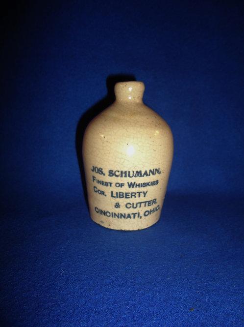 Joseph Schumann, Cincinnati, Ohio Stoneware Whiskey Jug #5757
