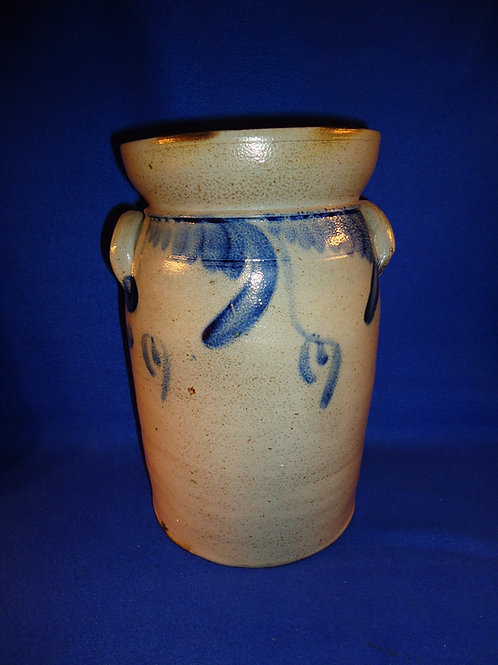 Circa 1870 Baltimore, Maryland Stoneware 1 1/2 Gallon Tabletop Churn