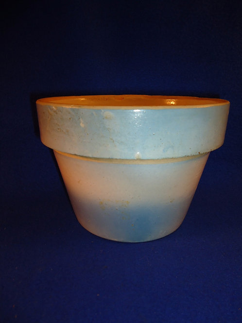 Blue and White Stoneware Diffused Blue Flower Pot