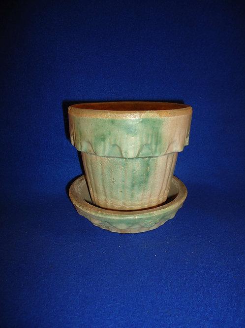 Houghton Pottery, Dalton, Ohio Stoneware Flower Pot, #5030