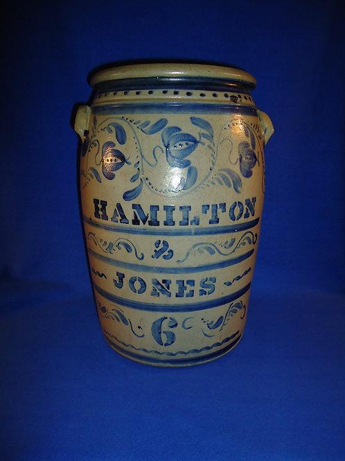 Hamilton & Jones 6 Gallon Jar, Block Letters, Freehand Fuchsia #5906