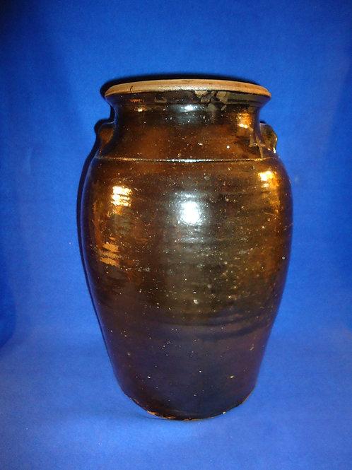 Circa 1900 4 Gallon Stoneware Churn from Georgia