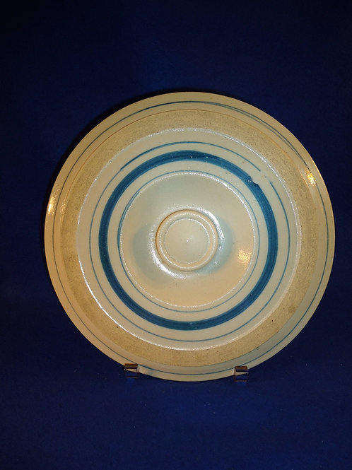 Blue and White Stoneware 3 Gallon Butter or Cake Crock Lid