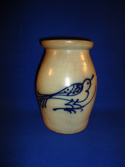 Jerry Beaumont 1 Gallon Stoneware Jar with Bird on Branch #5177
