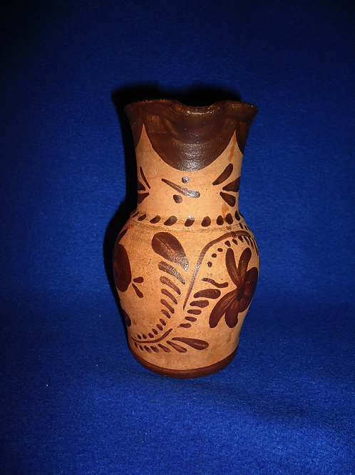"6 1/4"" Tanware Pitcher from New Geneva, Pennsylvania"