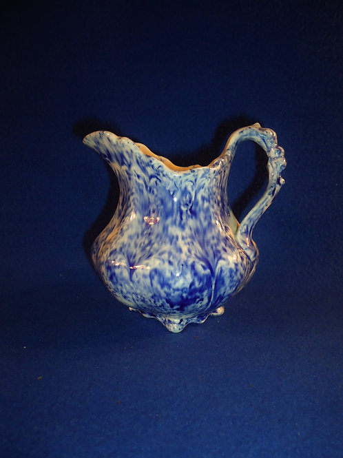 Mid-19th Century Blue and White Flow Spatterware Creamer