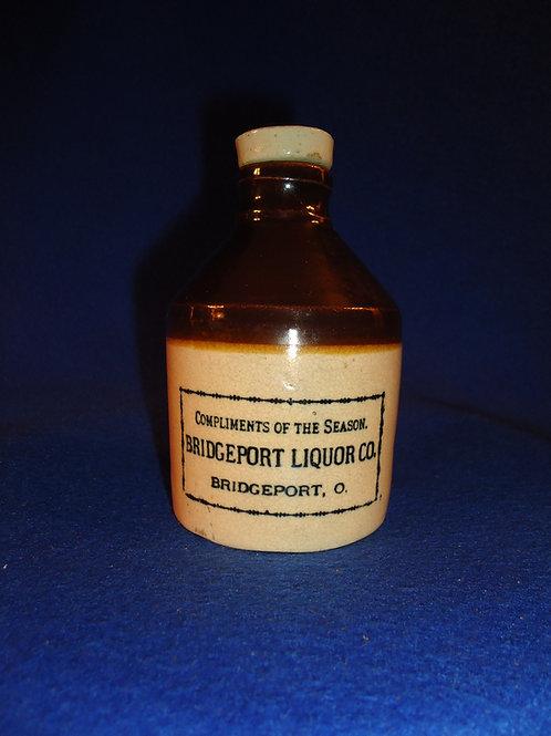 Bridgeport Liquor Co., Bridgeport, Ohio Stoneware Mini Jug