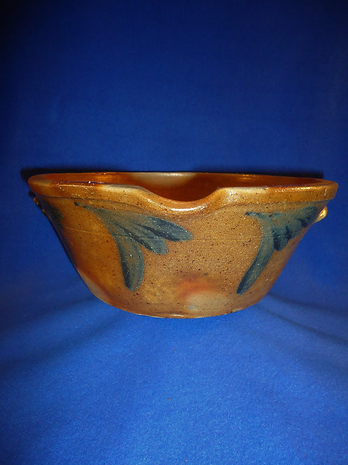 Circa 1870 2 Gallon Decorated Milk Bowl from Maryland, #4811
